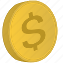 american, coin, dollar, money, usa, usd icon