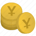 bank, japan, money, stack, yen icon