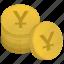 bank, japan, money, stack, yen icon
