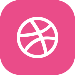 dribbble, dribble icon