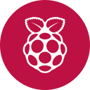 circle, os, pi, raspberry, round icon icon