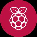 round icon, circle, pi, os, raspberry