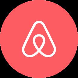 airbnb, circle, round icon, travel icon