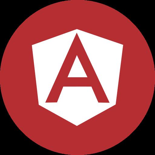 Angular, angular js, circle, js, programming, round icon icon