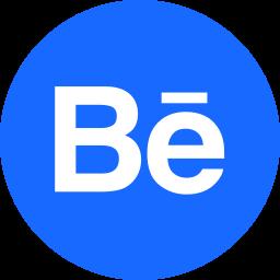 behance, circle, portfolio, round icon icon