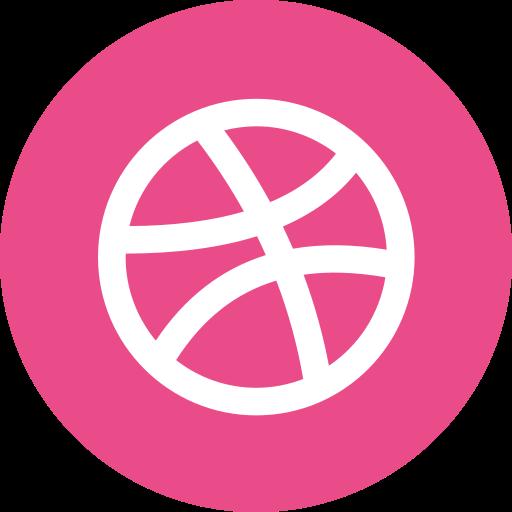 circle, dribbble, portfolio, round icon icon