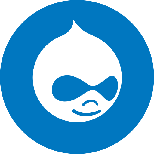 circle, drupal, round icon icon
