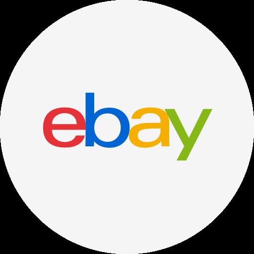 circle, ebay, ecommerce, round icon, shopping icon