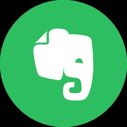 circle, evernote, notes, round icon icon