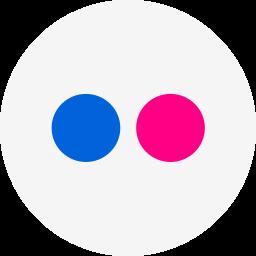 circle, flickr, photos, round icon icon