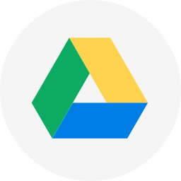 circle, cloud, cloud storage, drive, google, google drive, round icon icon