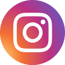 social media, instagram, social network, photos, round icon, circle