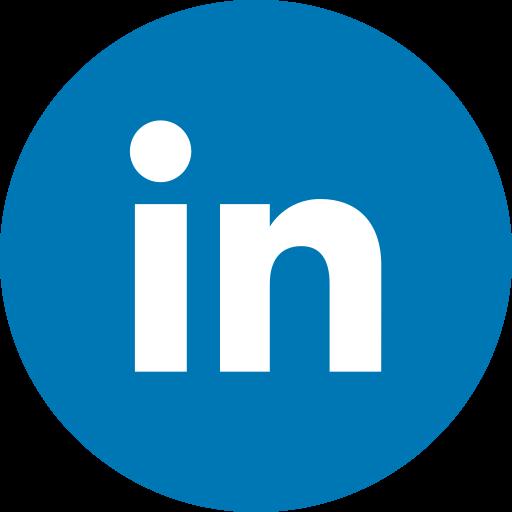 circle, linkedin, round icon, social media, social network icon