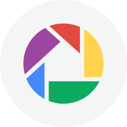 circle, photos, picasa, round icon icon