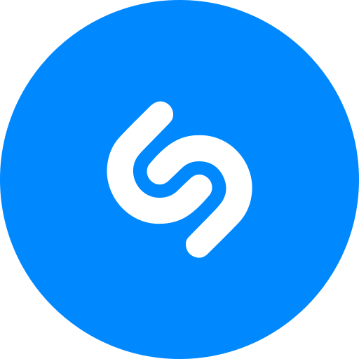 circle, music, round icon, shazam icon