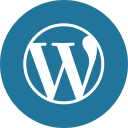 blog, circle, cms, round icon, wordpress icon