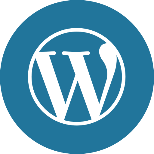 blog, circle, cms, round icon, wordpress icon