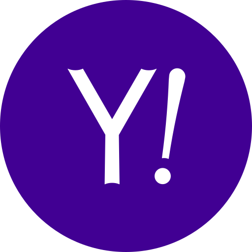 circle, round icon, yahoo icon
