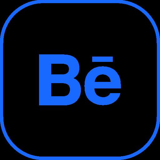 behance, line icon
