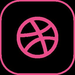 dribbble, line icon
