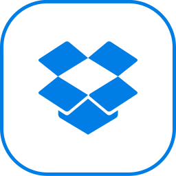 dropbox, line icon