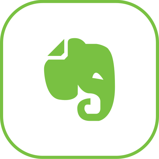 evernote, line icon