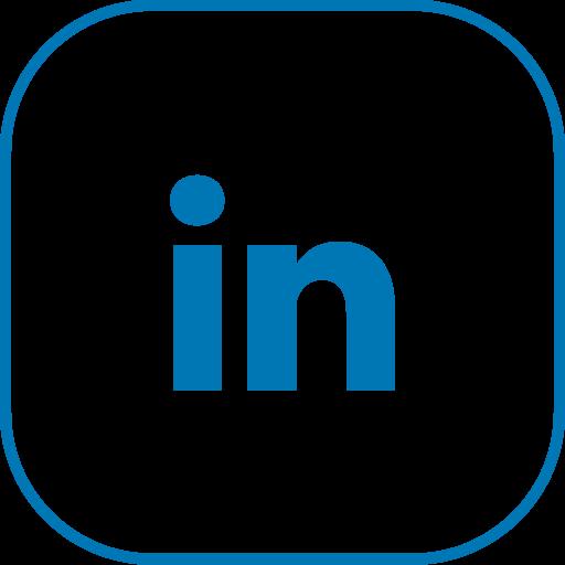 line, linkedin icon