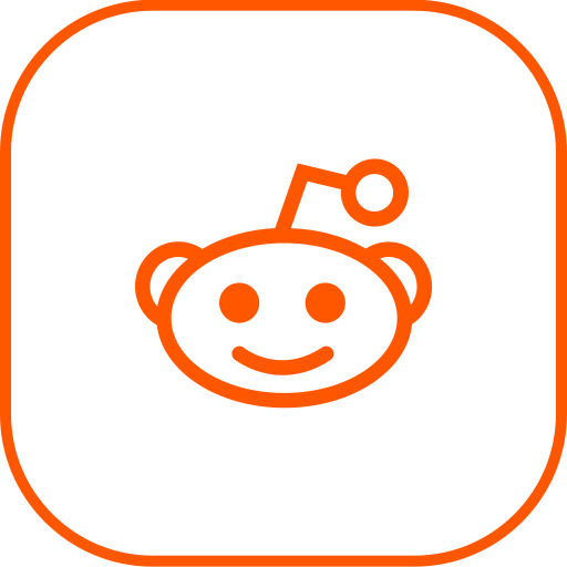 line, reddit icon