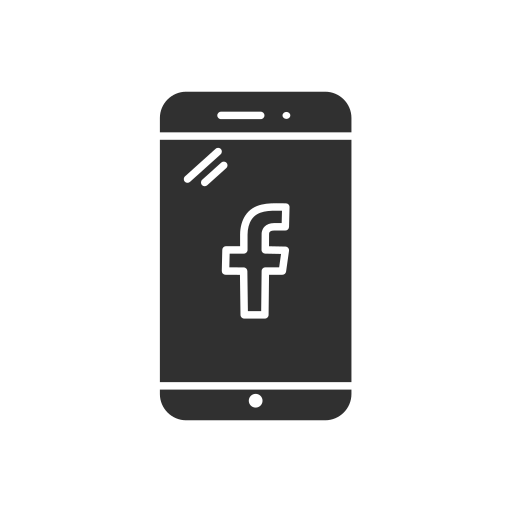 facebook, facebook logo, facebook on mobile, mobile icon
