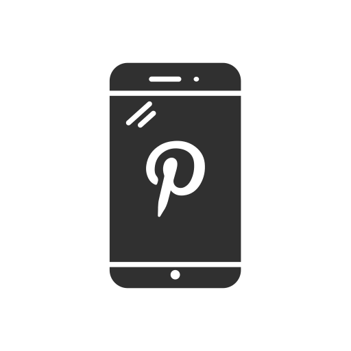 mobile, phone, pinterest, pinterest logo icon