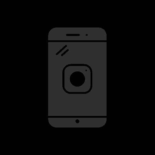 instagram, instagram logo, phone, picture icon