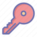 key, online, social market, web, web page icon