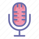 microphone, online, social market, web, web page icon