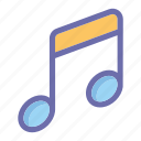 music, online, social market, web, web page icon