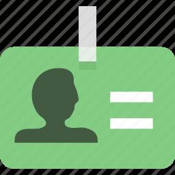 business card, identity, identity card icon