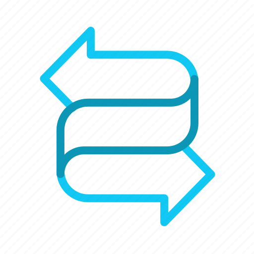 arrows, benefits, exchange, relashionship icon