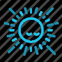 empathy, nice, sun icon
