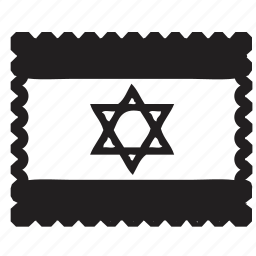 israel, letter, post, postage, postcard, postmark, sent letter icon