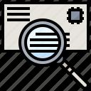 address, communications, envelope, find, mail, postal icon