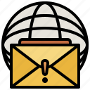 communications, interface, mail, postal, stamp icon