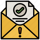 communications, envelope, letter, mail, mails, message icon