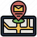 location, mail, map, maps, placeholder, point, pointer icon