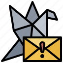 communications, dove, letter, mail, message, postal, stamp icon