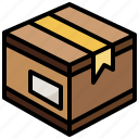and, box, delivery, package, packaging, postal, shipping icon