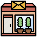 architecture, city, mail, office, package, post, postal icon