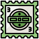 letter, mail, mailing, postal, stamp icon