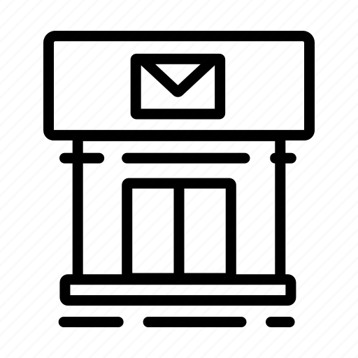 building, delivery, mail, office, post, postal, service icon