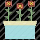 decor, gift, pots, rose icon
