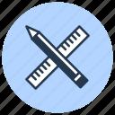 drawing, measuring, ruler icon