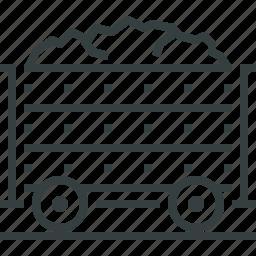 coal, mining icon